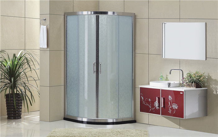 Silding Quadrant Shower Cubicles with  Bright Silver Aluminum Frame