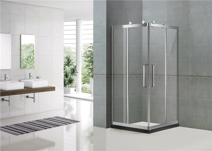 304 Stainless Steel Corner Enter Shower Boxes Sliding Mirror Finished Tempered Glass