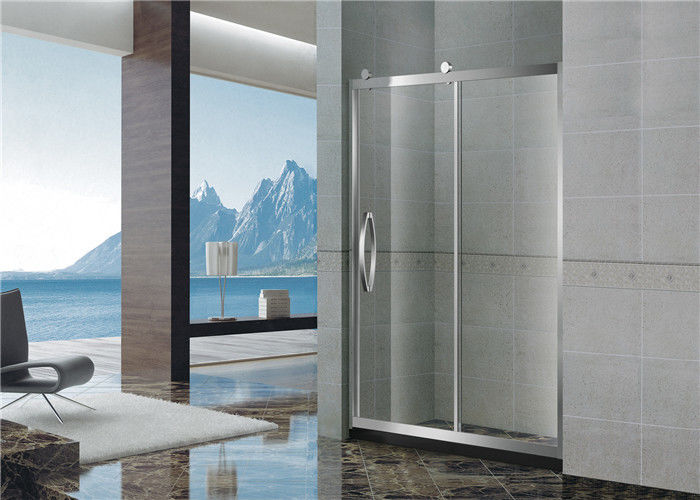 With Frame Inline Bathroom Glass Shower Screen 304 Stainless Sliding Steel Moving Door