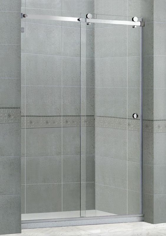 Professional sliding glass shower screens With Anti - Blast material 1400x2000MM